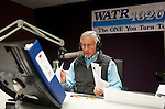 "WATERBURY,  CT-122916JS01--WATR's Larry Rifkin prepares for his show at the radio station on Thursday. Rifkin, who has hosted ""Talk of the Town"" for seven years, will be stepping away from the show. He will still be at WATR. <br /> Jim Shannon Republican-American"