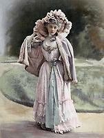 """Premiere page du journal """"Le theatre"""" du 1er Janvier 1901 : Rejane (1856-1920) nee Gabrielle Reju, comedienne francaise, ici  dans le role de Sylvie dans la piece de theatre """"Sylvie ou la curieuse d'amour"""" de AbelHermant au theatre du Vaudeville, typogravure de Goupil --- Gabrielle Reju aka Rejane (1856-1920) french comedian here as Sylvie in play  """"Sylvie ou la curieuse d'amour"""" by AbelHermant, Paris, 1901"""