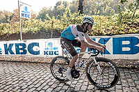 Alexis Gougeard (FRA/AG2R-La Mondiale) up the Kemmelberg<br /> <br /> 82nd Gent-Wevelgem in Flanders Fields 2020 (1.UWT)<br /> 1 day race from Ieper to Wevelgem (232km)<br /> <br /> ©kramon