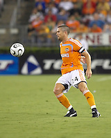 Houston Dynamo defender Wade Barrett (24) eyes the ball. CF Pachuca defeated Houston Dynamo 4-3 in penalty kicks after a 2-2 tie in regulation and extra time at Robertson Stadium in Houston, TX on August 14, 2007 in the SuperLiga semi-finals.