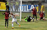 CUCUTA - COLOMBIA -11 -03-2015: Jonathan Estrada (2Izq.) jugador de Deportes Tolima celebra el gol anotado a Cucuta Deportivo durante partido entre Cucuta Deportivo y Deportes Tolima por la fecha 9 de la Liga Aguila I-2015, jugado en el estadio General Santander de la ciudad de Cucuta.  / Jonathan Estrada (2L) player of Deportes Tolima celebrates a scored goal to Cucuta Deportivo during a match between Cucuta Deportivo and Deportes Tolima for the date 9 of the Liga Aguila I-2015 at General Santander Stadium in Cucuta city, Photo: VizzorImage / Cont.