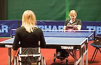 11-02-11Tennis, Rotterdam, ABNAMROWTT, Tafeltennis demo Esther Vergeer, Jolanda Paardekom