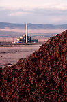 Deactivated 100-B Nuclear reactor, Basalt, outcrop, First plutonium production reactor in world, Hanford Site, Department of Energy, Washington State,