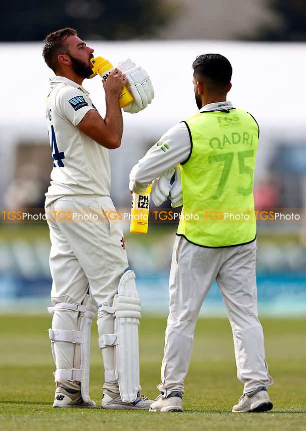 Jack Leaning of Kent drinks break during Kent CCC vs Worcestershire CCC, LV Insurance County Championship Division 3 Cricket at The Spitfire Ground on 6th September 2021