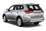 Car pictures of rear three quarter view of 2020 Mitsubishi Outlander-PHEV Intense 5 Door SUV Angular Rear
