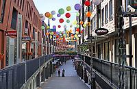 Nederland  Nijmegen  - September 2020 .   Het is rustig in de Marikenstraat. De Nijmeegse Koopgoot. Foto : ANP/ Hollandse Hoogte / Berlinda van Dam
