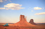 Tent near the Mittens, Monument Valley, Arizona, USA