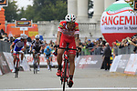 Mattia Cattaneo (ITA) Androni Giocattoli-Sidermec crosses the line finishing in 4th place at the end of the 99th edition of Milan-Turin 2018, running 200km from Magenta Milan to Superga Basilica Turin, Italy. 10th October 2018.<br /> Picture: Eoin Clarke | Cyclefile<br /> <br /> <br /> All photos usage must carry mandatory copyright credit (© Cyclefile | Eoin Clarke)