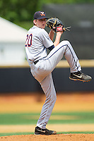 Virginia Cavaliers starting pitcher Brandon Waddell (20) in action against the Wake Forest Demon Deacons at Wake Forest Baseball Park on May 17, 2014 in Winston-Salem, North Carolina.  The Demon Deacons defeated the Cavaliers 4-3.  (Brian Westerholt/Four Seam Images)