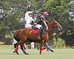 WELLINGTON, FL - APRIL 25:  Polito Pieres of Orchard Hill (dark jersey) takes control of the ball, as Valiente defeats Orchard Hill 13-12, in OT,  in the US Open Polo Championship Final, to win the U. S. Polo Triple Crown, at the International Polo Club Palm Beach, on April 25, 2017 in Wellington, Florida. (Photo by Liz Lamont/Eclipse Sportswire/Getty Images)