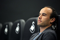 Pictured: American football player Landon Donovan Tuesday 04 April 2017<br />Re: Official opening of the Fairwood Training Complex of Swansea City FC, Wales, UK