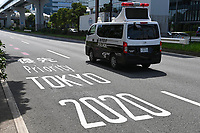 20th July 2021, TOKYO, JAPAN: Illustration of the traffic priority lane for athletes and media during the Tokyo 2020 Summer Olympic Games