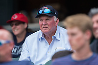 Former Major League Baseball manager Charlie Manuel takes in the ACC Baseball game between the Duke Blue Devils and the Florida State Seminoles in the first semifinal of the 2017 ACC Baseball Championship at Louisville Slugger Field on May 27, 2017 in Louisville, Kentucky.  The Seminoles defeated the Blue Devils 5-1.  (Brian Westerholt/Four Seam Images)