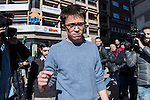 Spanish Podemos member Inigo Errejon after the meeting between members of the canopy of Podemos to seek unity between the different proposals in Madrid. Spain. January 25th 2017. (ALTERPHOTOS/Rodrigo Jimenez)