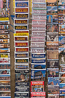 Variety of tourist travel guide books for Italian destinations.