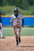 GCL Pirates third baseman Rodolfo Castro (70) rounds the bases after Jeremias Portorreal (not pictured) hit a grand slam home run in the top of the eleventh inning during a game against the GCL Blue Jays on July 20, 2017 at Bobby Mattick Training Center at Englebert Complex in Dunedin, Florida.  GCL Pirates defeated the GCL Blue Jays 11-6 in eleven innings.  (Mike Janes/Four Seam Images)