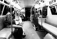 Montreal (Qc) CANADA -   File Photo - circa 1985 - CTCUM 191 bus at night
