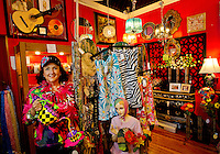 Photography of Concord, NC. Downtown Concord retailer Audrey White owns Audrey's Frufru & Sassy Boutique on Union Street South. Photo is part of a photographic series of images featuring Concord, NC, by photographer Patrick Schneider..