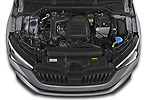 Car Stock 2020 Skoda Scala Monte-Carlo 5 Door Hatchback Engine  high angle detail view