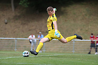 goalkeeper Michiel Van Gijzeghem (19) of Tempo gets ready for goalkick during a preseason friendly soccer game between Tempo Overijse and Royale Union Saint-Gilloise, Saturday 29th of June 2021 in Overijse, Belgium. Photo: SPORTPIX.BE   SEVIL OKTEM