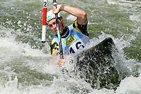 4th September 2021; Parc Olimpic del Segre, La Seu D'Urgell ICF Slalom World Cup, men's Kayak Final; 2nd place for Felix Oschmautz (AUT)