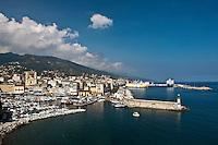 Europe/France/Corse/2B/Haute-Corse/Cap Corse/Nebbio/Bastia: Le Vieux Port vu depuis la Citadelle
