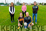 Tadgh and Niall Lucey kneeling front with Mags Quillinan, Eileen Nagle and Tim McMahon at the launch of the Paul Lucey Memorial virtual run at the Austin Stacks Club on Sunday.