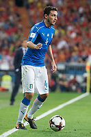 Italy's Matteo Darmian during match between Spain and Italy to clasification to World Cup 2018 at Santiago Bernabeu Stadium in Madrid, Spain September 02, 2017. (ALTERPHOTOS/Borja B.Hojas)