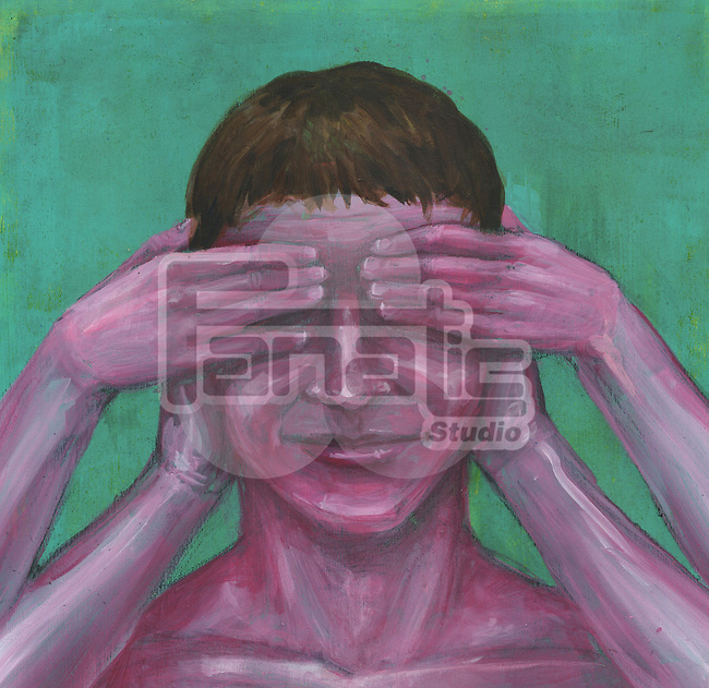 """Illustration depicting concept of """"Ignorance is bliss"""""""