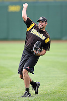 June 13th 2008:  Pitcher Josh Collmenter of the South Bend Silver Hawks, Class-A affiliate of the Arizona Diamondbacks, during a game at Stanley Coveleski Regional Stadium in South Bend, IN.  Photo by:  Mike Janes/Four Seam Images