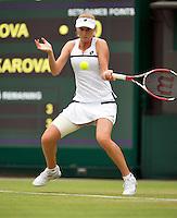 28-06-13, England, London,  AELTC, Wimbledon, Tennis, Wimbledon 2013, Day five, Ekatarina Makarova (RUS)<br /> <br /> <br /> <br /> Photo: Henk Koster