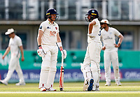 Jack Leaning (R) and Sam Billings (L) of Kent mid wicket discussion during Kent CCC vs Worcestershire CCC, LV Insurance County Championship Division 3 Cricket at The Spitfire Ground on 6th September 2021