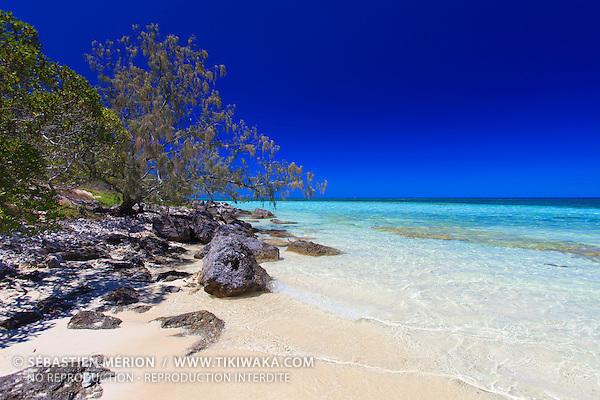 Plage de l'Ilot Signal au large de Nouméa, Nouvelle-Calédonie