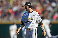 Vanderbilt Commodores shortstop Dansby Swanson (7) before Game 12 of the NCAA College World Series against the TCU Horned Frogs on June 19, 2015 at TD Ameritrade Park in Omaha, Nebraska. The Commodores defeated TCU 7-1. (Andrew Woolley/Four Seam Images)