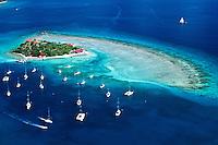 Aerial view of Marina Cay<br /> British Virgin Islands