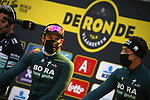 Bora-Hansgrohe at sign on before the start of the Tour of Flanders 2020 running 244km from Antwerp to Oudenaarde, Belgium. 18th October 2020.  <br /> Picture: Bora-Hansgrohe/Dion Kerckhoffs/PN/BettiniPhoto   Cyclefile<br /> <br /> All photos usage must carry mandatory copyright credit (© Cyclefile   Bora-Hansgrohe/Dion Kerckhoffs/PN/BettiniPhoto)