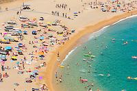 Spain, Costa Brava, Catalonia, Tossa de Mar. Coastline and beaches.