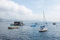 A general view of Rio De Janiero with boats