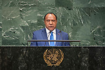 General Assembly Seventy-third session, 14th plenary meeting<br /> <br /> <br /> His Excellency Rimbink PATOMinister for Foreign Affairs and Trade of the Independent State of Papua NewGuinea