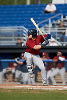 Mahoning Valley Scrappers center fielder Austen Wade (40) at bat during the first game of a doubleheader against the Batavia Muckdogs on August 28, 2017 at Dwyer Stadium in Batavia, New York.  Mahoning Valley defeated Batavia 6-3.  (Mike Janes/Four Seam Images)