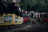 Michael Vanthourenhout (BEL/Marlux-Napoleon Games) is the fastest starter of them all<br /> <br /> Elite Men's race<br /> UCI CX World Cup Namur / Belgium 2017