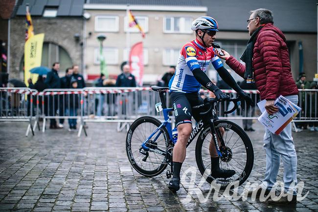 (eventual race winner) Fabio Jakobsen (NED/Deceuninck Quick Step) pre race Sporza interview<br /> <br /> GP Monseré 2020<br /> One Day Race: Hooglede – Roeselare 196.8km. (UCI 1.1)<br /> Bingoal Cycling Cup 2020