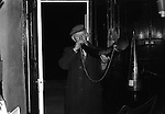 Bainbridge Horn Blower Bainbridge Yorkshire Uk 1974<br /> Blowing the horn at ten o'clock every night from Holyrood (Sept. 27th) to Shrovetide (the day before Ash Wednesday), as a guide to belated travellers.