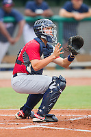 Catcher Wayne Taylor #34 during the USA Baseball 18U National Team Trials at the USA Baseball National Training Center on June 30, 2010, in Cary, North Carolina.  Photo by Brian Westerholt / Four Seam Images