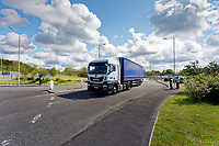 Pictured: A factory lorry exits the Ford engine plant in Bridgend, Wales, UK. Thursday 06 June 2019<br /> Re: An announcement on the proposed closure of Ford's Bridgend plant will be made today (Thursday).<br /> Ford Europe and bosses from the United States will meet union leaders at its Essex headquarters.<br /> The plant employs 1,700 workers from across south Wales.