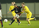 10/08/2004   Copyright Pic: James Stewart.File Name : jspa08_falkirk_v_montrose.DAVID NICHOLS HOLDS OFF DARREN SPINK....Payments to :.James Stewart Photo Agency 19 Carronlea Drive, Falkirk. FK2 8DN      Vat Reg No. 607 6932 25.Office     : +44 (0)1324 570906     .Mobile  : +44 (0)7721 416997.Fax         :  +44 (0)1324 570906.E-mail  :  jim@jspa.co.uk.If you require further information then contact Jim Stewart on any of the numbers above.........