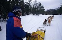 Amérique/Amérique du Nord/Canada/Quebec/Saint-Aimé-des-Lacs : Raid en traineau à chiens avec A. Heller dans le parc régional des Hautes Gorges [Autorisation : 204]