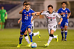 Jaimes McKee (l) of Eastern SC (HKG) battles for the ball with Yusuke Tasaka (r) and Kentaro Moriya of Kawasaki Frontale (JPN) during the AFC Champions League 2017 Group G match between Eastern SC (HKG) and Kawasaki Frontale (JPN) at the Mongkok Stadium on 01 March 2017 in Hong Kong, China. Photo by Chris Wong / Power Sport Images