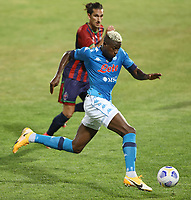 Victor Osimhen of SSC Napoli compete for the ball<br /> during the friendly football match between SSC Napoli and L Aquila 1927 at stadio Patini in Castel di Sangro, Italy, August 28, 2020. <br /> Photo Cesare Purini / Insidefoto