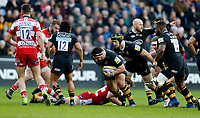 Photo: Richard Lane/Richard Lane Photography. Wasps v Gloucester Rugby.  Aviva Premiership. 23/12/2017.  Wasps' Marty Moore attacks.